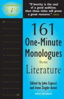 161 One-minute Monologues From Literature