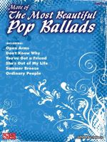 Favorite Pop Ballads for Easy Piano