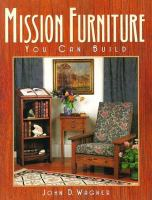 Mission Furniture You Can Build