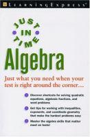 Just in Time Algebra