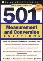 501 Measurement and Conversion Questions