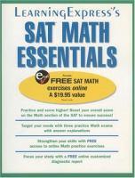 SAT Math Essentials