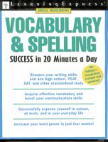 Vocabulary & Spelling Success