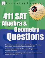 411 SAT Algebra and Geometry Questions