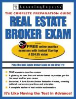 Real Estate Broker Exam