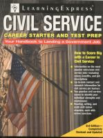 Civil Service Career Starter and Test Prep