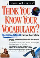 Think You Know your Vocabulary