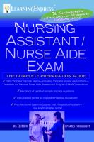Nursing Assistant/nurse Aide Exam