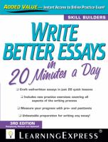 Write Better Essays in 20 Minutes A Day