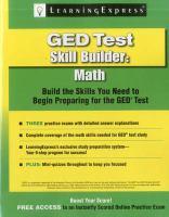 GED Test Skill Builder