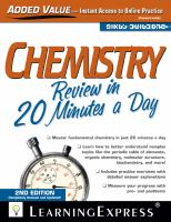 Chemistry Review in 20 Minutes A Day