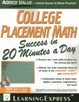 College Placement Math