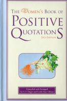 The Women's Book of Positive Quotations