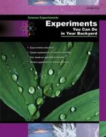 Experiments You Can Do in your Backyard