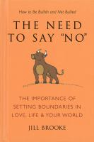"""The Need to Say """"no"""""""