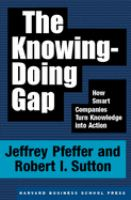 The Knowing-doing Gap