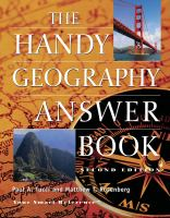 The Handy Geography Answer Book