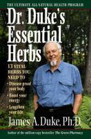 Dr. Duke's Essential Herbs
