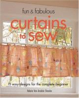 Fun & Fabulous Curtains to Sew