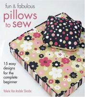 Fun & Fabulous Pillows to Sew