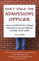 Don't Stalk the Admissions Officer