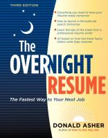 The Overnight Résumé