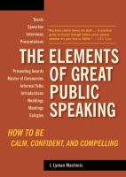 The Elements of Great Public Speaking