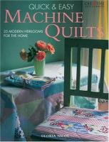 Quick & Easy Machine Quilts