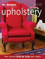 So Simple Upholstery