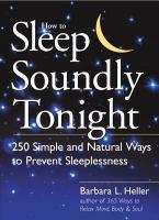 How to Sleep Soundly Tonight