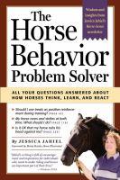 Horse Behavior Problem Solver