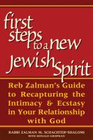 First Steps to A New Jewish Spirit