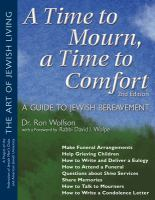 A Time to Mourn, A Time to Comfort