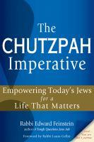 The Chutzpah Imperative