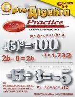 Pre-Algebra Practice