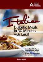 Italian Diabetic Meals in 30 Minutes-- or Less!