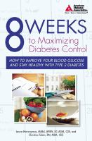 8 Weeks to Maximizing Diabetes Control