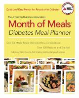 American Diabetes Association Month of Meals Diabetes Meal Planner