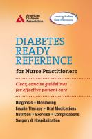 Diabetes Ready Reference Guide for Nurse Practitioners