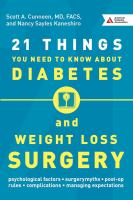 21 Things You Need to Know About Diabetes and Weight Loss Surgery