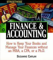 Streetwise Finance & Accounting