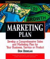 Streetwise Marketing Plan
