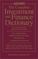 The Complete Investment and Finance Dictionary