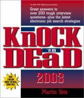 Knock 'em Dead 2003
