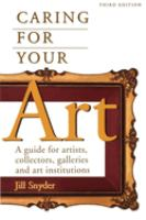 Caring for your Art
