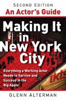 An Actor's Guide- Making It in New York City
