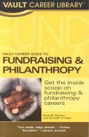 Vault Career Guide to Fundraising & Philanthropy
