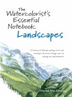 The Watercolorist's Essential Notebook, Landscapes