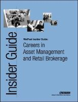 Careers in Asset Management and Retail Brokerage