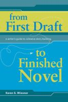 From First Draft to Finished Novel